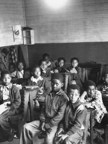 Photographic Print African American Children In Segregated School