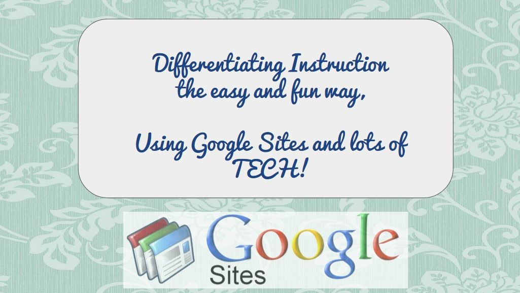 Give Kids Choices With A Google Sites Project Google Sites Project Presentation Student Created