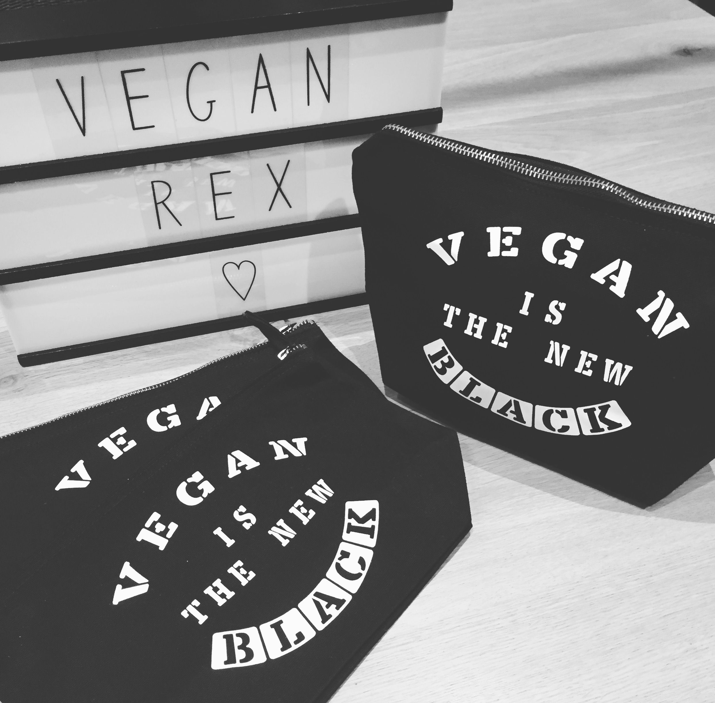 Vegan is the new black clutch £10.00 Vegan clothing