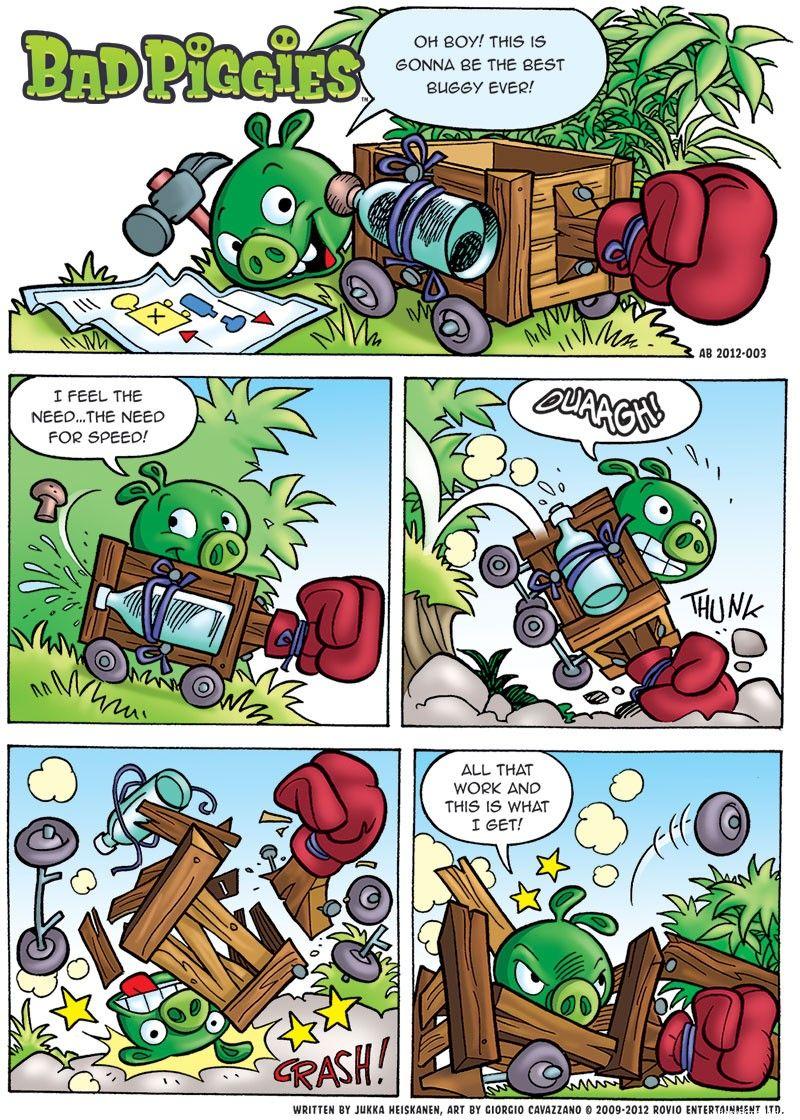 Bad piggies comic part 1 2
