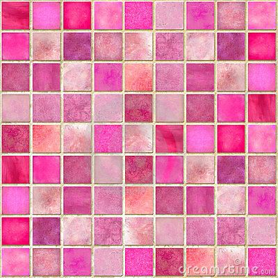 Pink Tile Mosaic Pinned By Van Xo