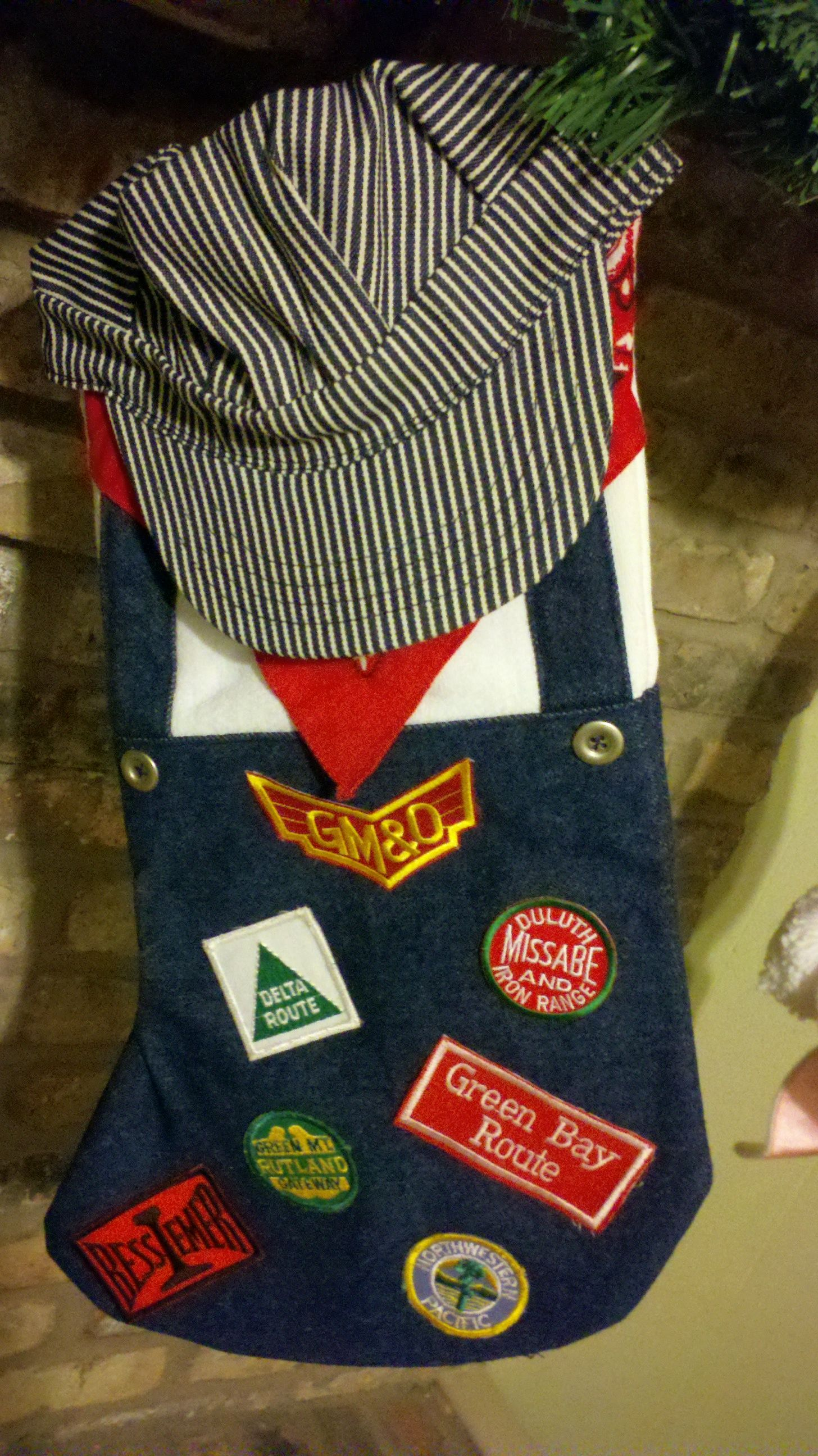 Train Engineer Stocking I Made A Few Years Ago For