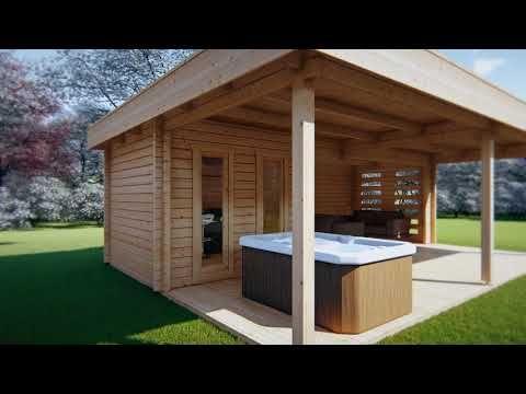 Gartenhaus mit Großer Terrasse Garden Paradise A 10m2