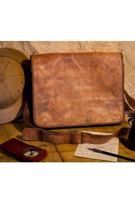 d9464a375683 Sahara Camel Leather Bag - Mens Vintage Satchel