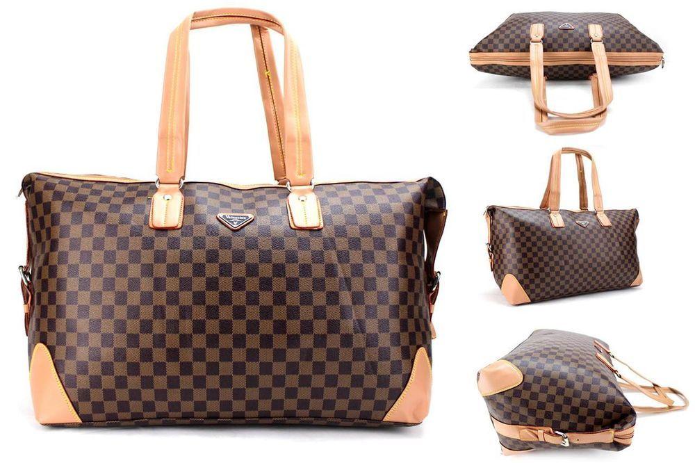 Las Designer Style Tote Womens Handbag Cabin Weekend Bag Vintage Satchel