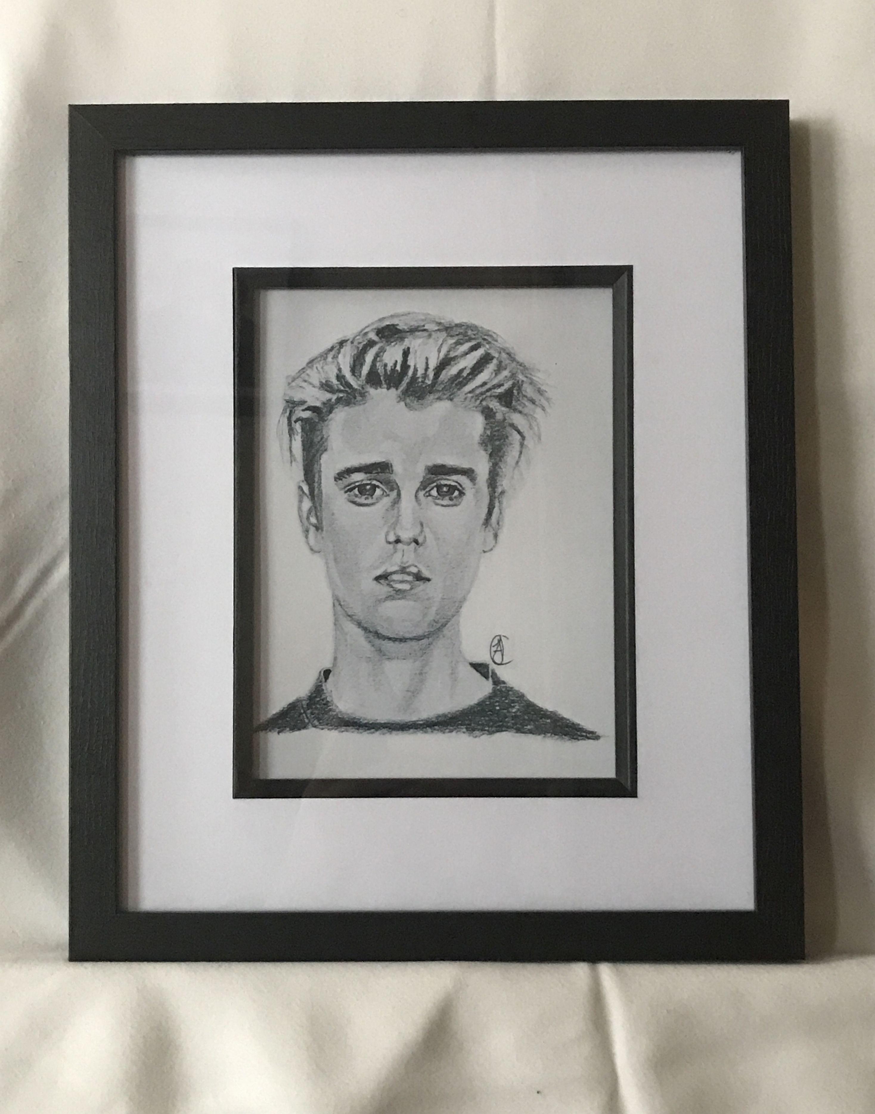 Justin bieber print framed