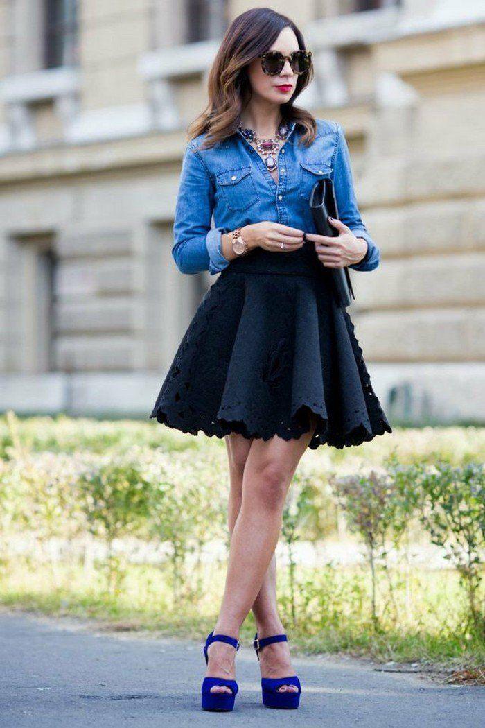 ▷ 1001+ idées avec quoi porter une chemise en jean   Mode   Beauté ... 709fd9f191d