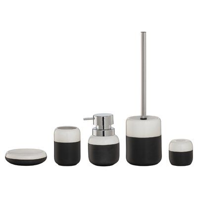 Sealskin Sphere 6 Piece Bathroom Accessory Set Color Black With