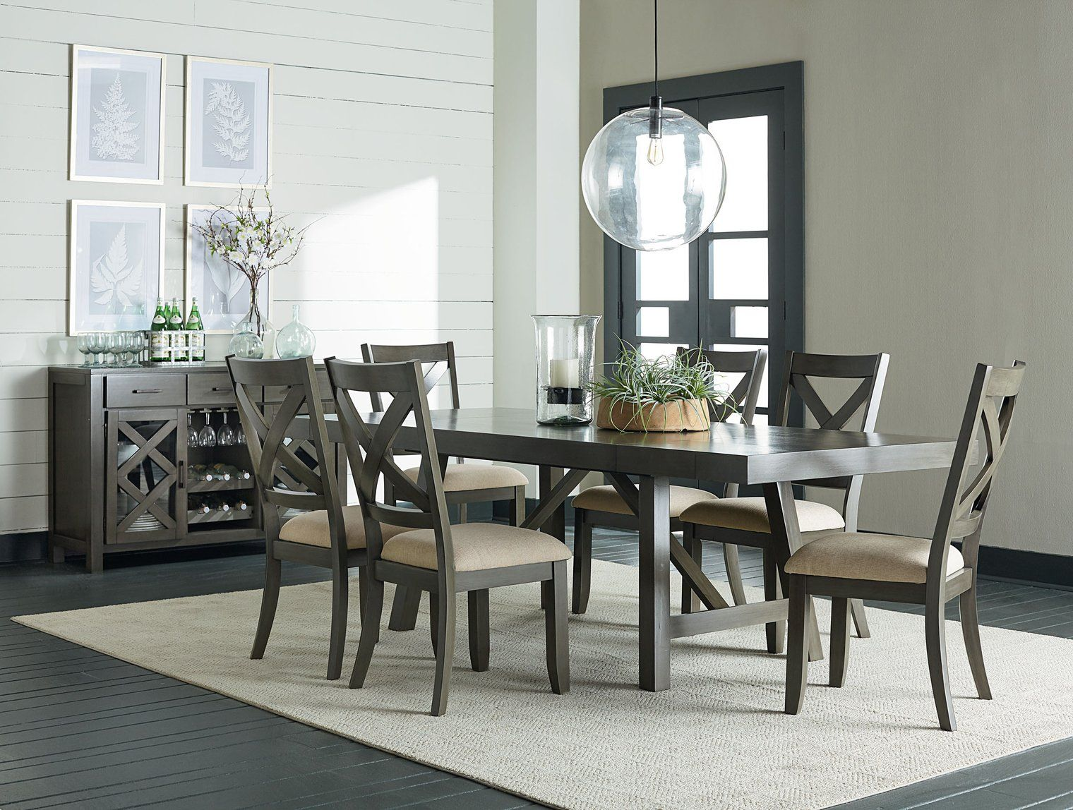 Modern Elegance With A Rustic Flair Grace Your Home With A Dining Collection That Combines Mang Grey Dining Tables Counter Height Dining Sets Grey Dining Room