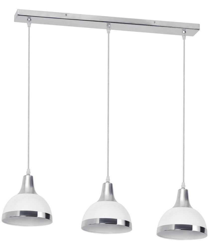 All Home 3 Light Kitchen Island Pendant in red  sc 1 st  Pinterest & Buy Chrome and White 3 Bulb Pendant Light at Argos.co.uk - Your ...