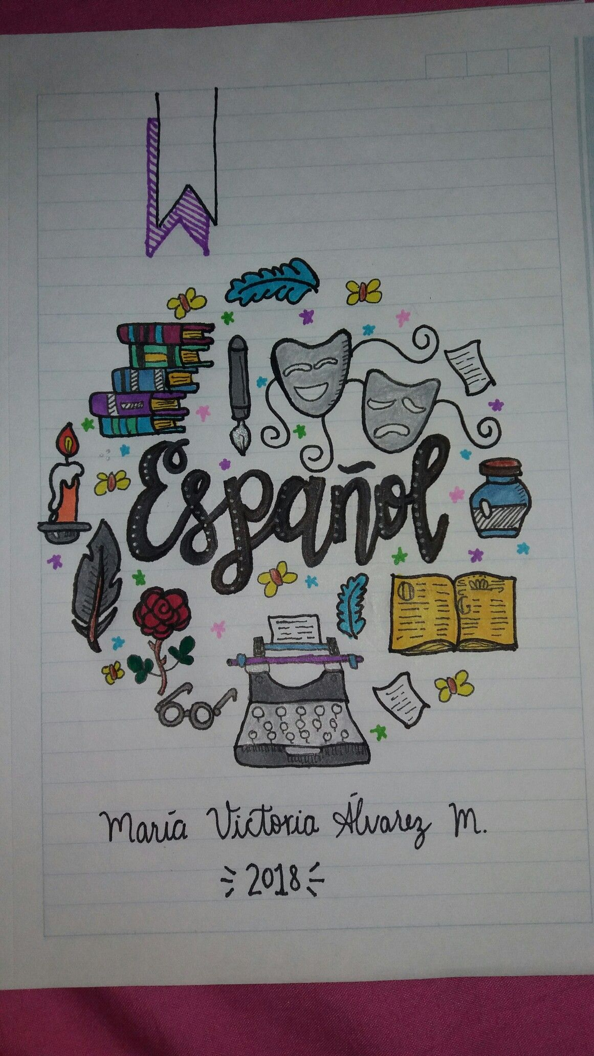 Decoraciones Gramar Cuaderno Español Spanish Notebook Organization
