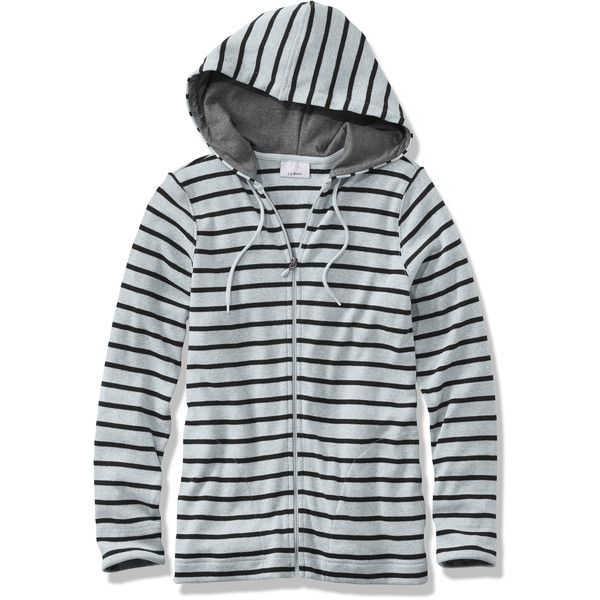 L.L.Bean French Sailor's Shirt, Hoodie (2.310 RUB) ❤ liked on Polyvore featuring tops, hoodies, striped sailor shirt, striped shirt, sailor shirt, hoodie shirt and sweatshirt hoodies