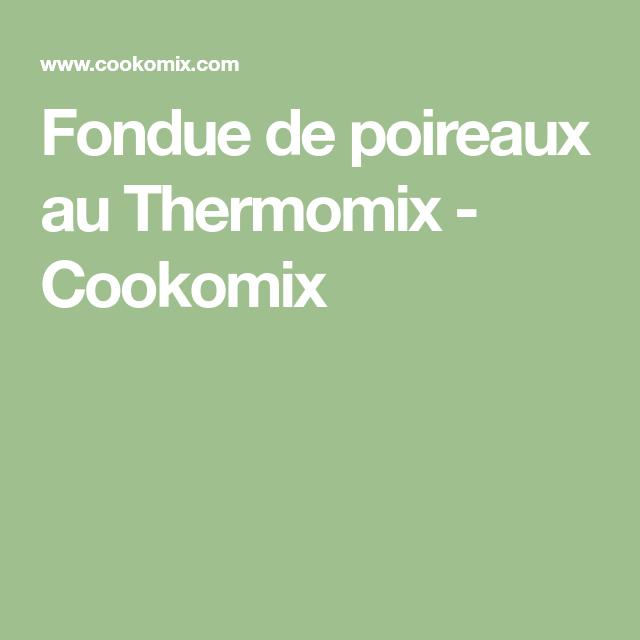 Fondue de poireaux au Thermomix - Cookomix