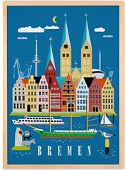 Bremen Poster 50x70cm