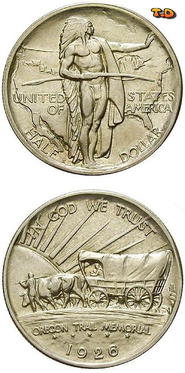 Ntusa 12 Dollar 1926 S Oregon Trail Memorial Gebiet 1 Münzen