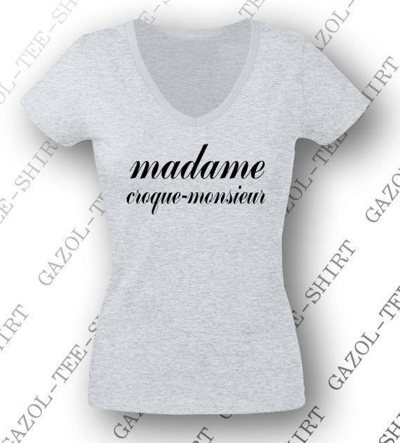 t shirt madame croque monsieur id e cadeau original pour. Black Bedroom Furniture Sets. Home Design Ideas