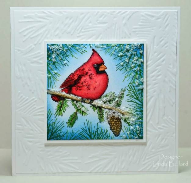 Snowy Cardinal by labullard - Cards and Paper Crafts at Splitcoaststampers