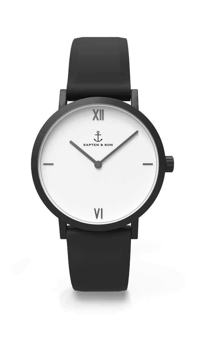The minimalistic PURE Lux highlights the essential. A clean dial in white meets a simple stainless steel case in matt anthracite. The PURE Lux is modern, timeless and urban – coolness in perfection. The black silicone strap, which sits smoothly on every w