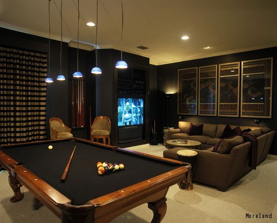 10 Must Have Items For The Ultimate Man Cave Pool Table Room