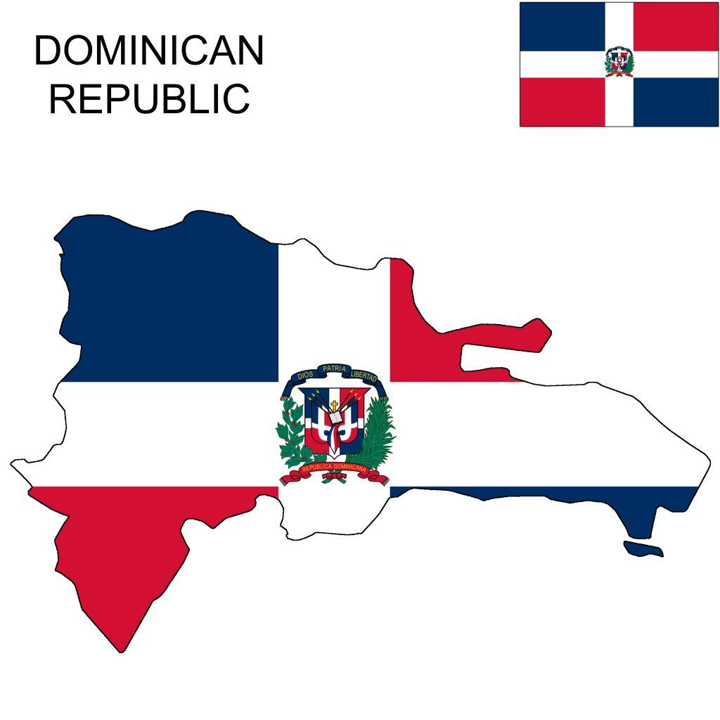 Dominican Republic Flag Map Dominican Republic Flag Flag Dominican Republic
