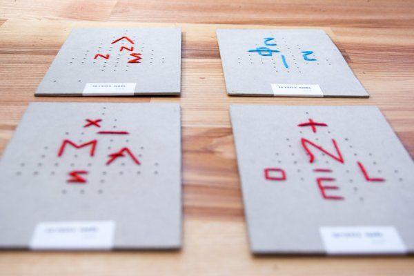 Xmas Card - 2012 by Mira Benjamin, via Behance