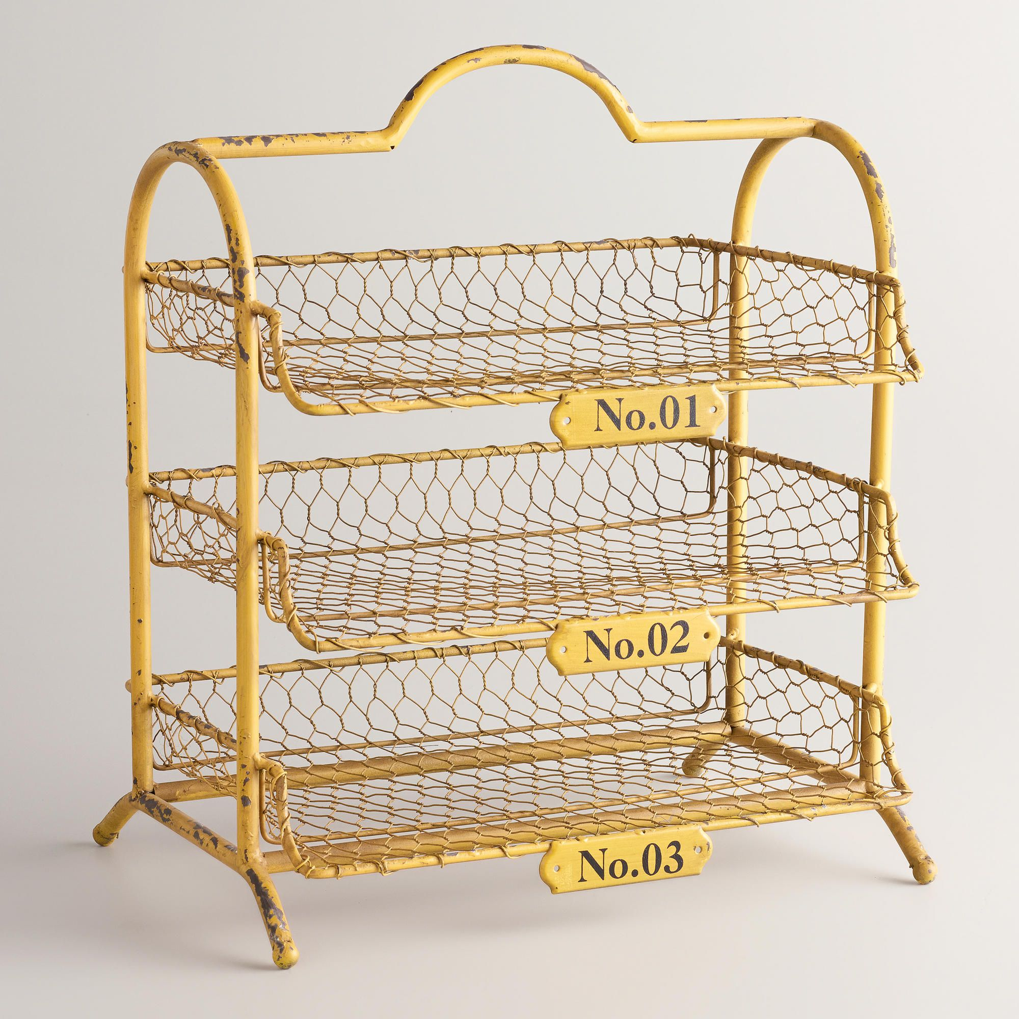 Yellow Austin 3 Tier Wire Tray
