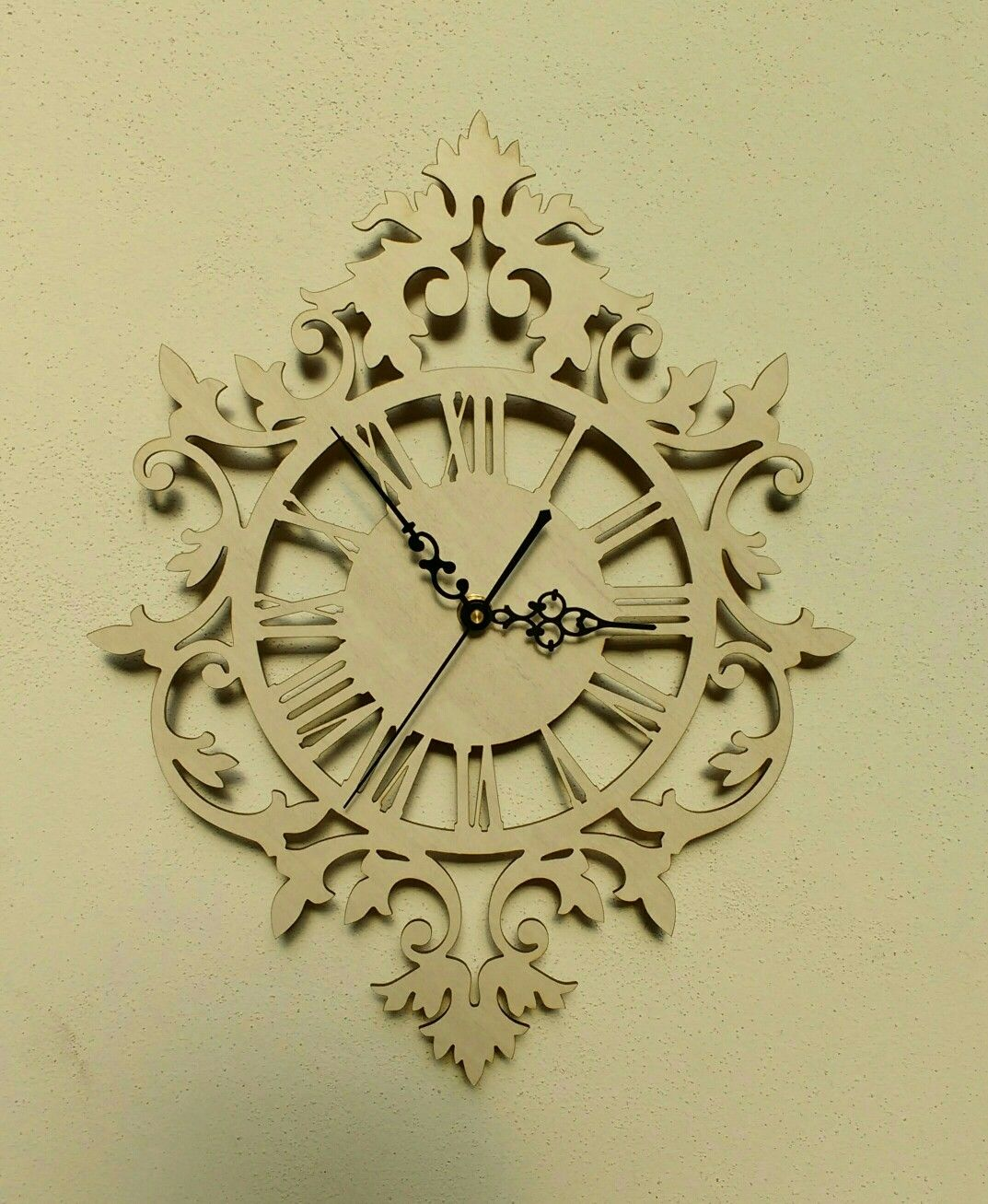 Reloj de pared calado / Laser cutting wall clock | Duvar saati ...