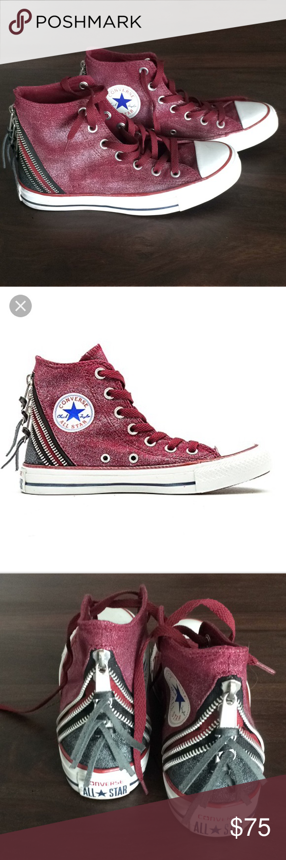 Converse Chuck Taylor All Star Tri Zip Hi Like new. Maybe