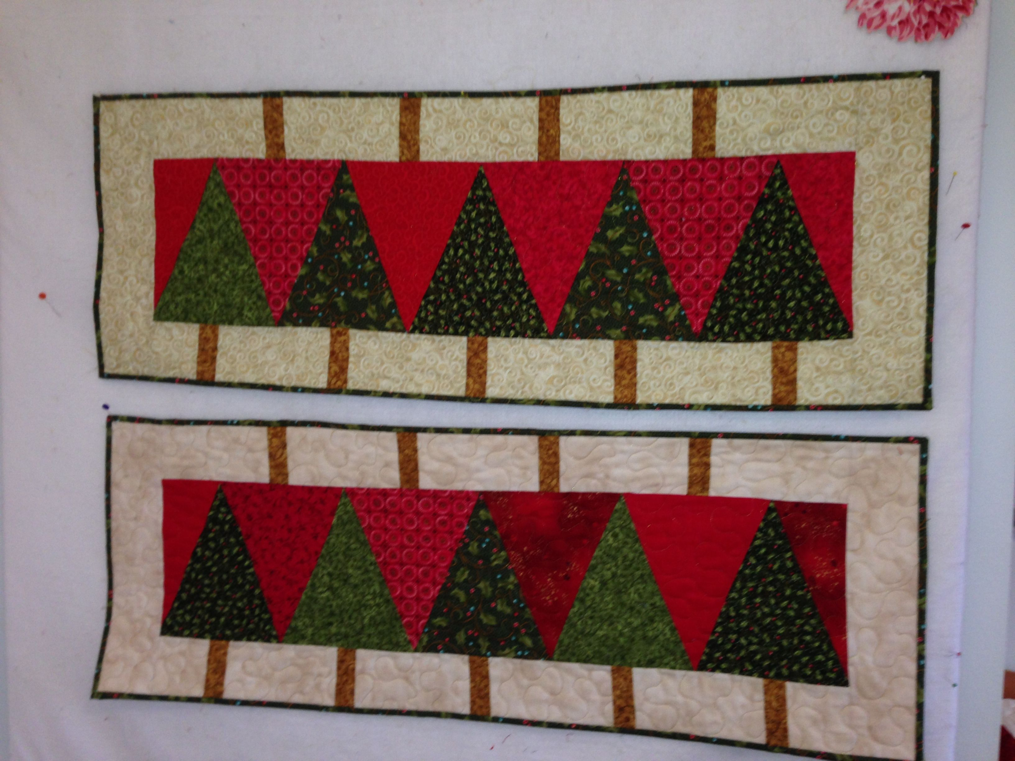 quick table runners, but so much fun to make.