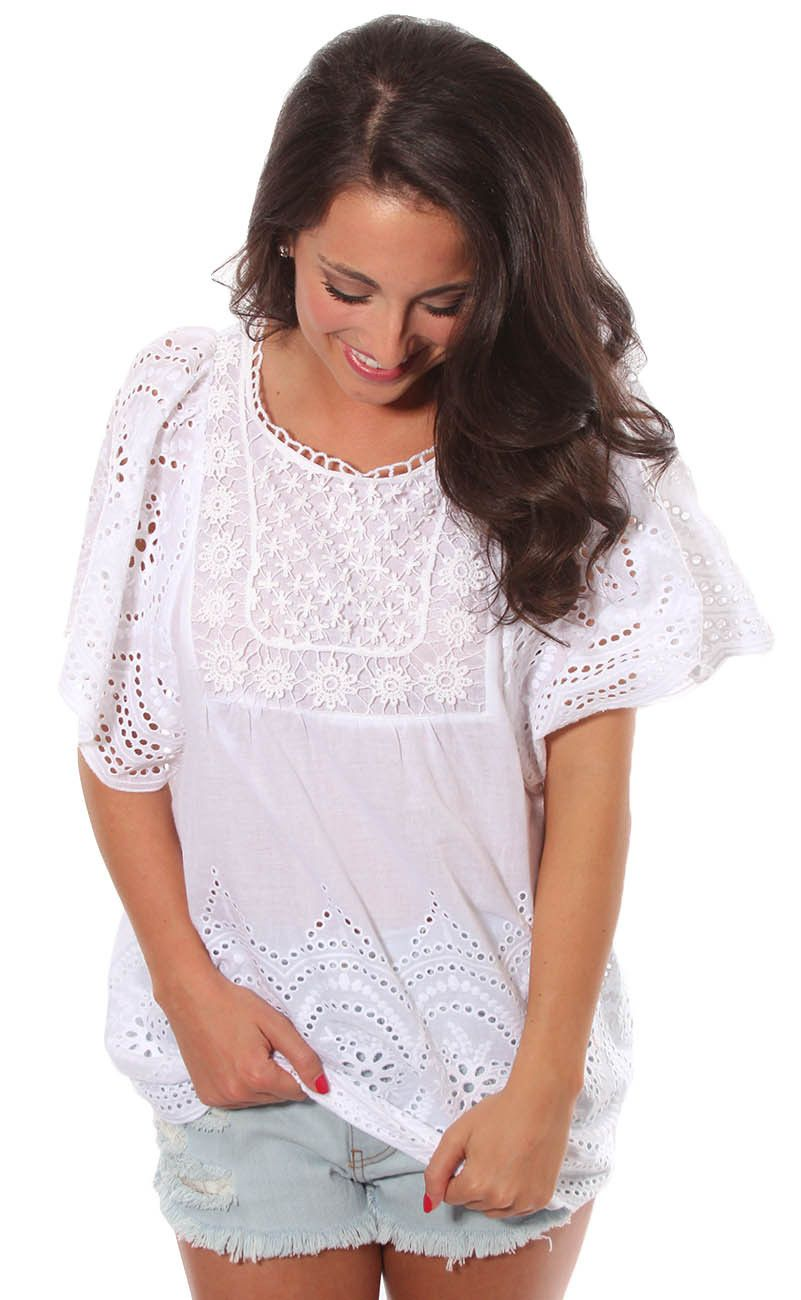 In the summertime eyelet top from riffraff springsummer style