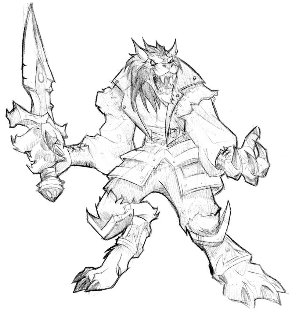 World of Warcraft Cataclysm Art & Pictures, Sketch