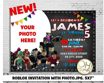 Roblox Invitation With Photoroblox BirthdayRoblox InviteRoblox Birthday InvitationRobloxRoblox PartyRoblox PrintableRoblox