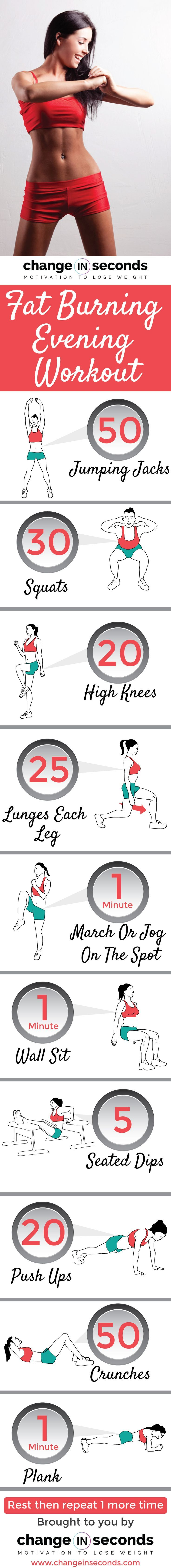 Fat Burning Evening Workout Burn Huge Amount Of Fat (Download PDF) is part of Evening workout - Our Fat Burning Evening Workout Download With A FREE Printable PDF Burns A Ridiculous Amount Of Fat That Will Create A Tight, Toned, Flab Free Body Fast!