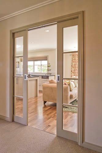 Cavity Sliders Soft Closing Double Pocket Door Track Kit In 2020 Interior Pocket Doors Glass Doors Interior Pocket Doors