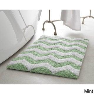 Jean Pierre Reversible Cotton Zigzag 21 X 34 In Bath Mat Banana