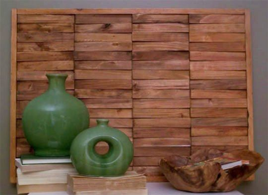DIY Wood Wall Art Made from Shims Under the Table and Dreaming