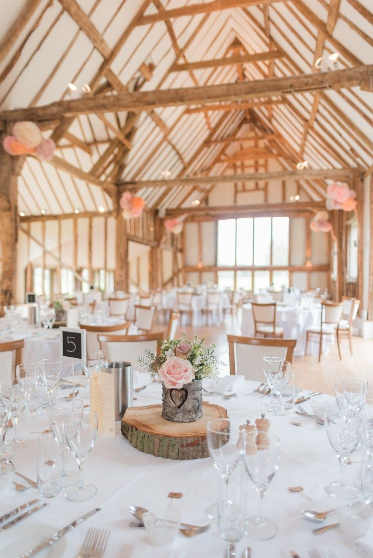 Easton Grange Suffolk Pretty Pale Pink Country Barn Wedding http://kerriemitchell.co.uk/
