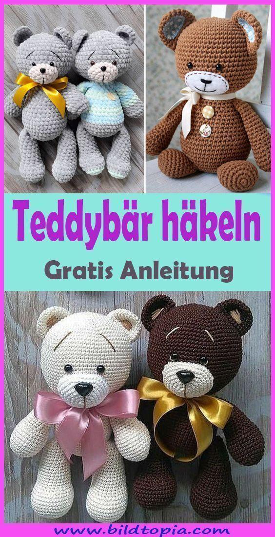 Amigurumi Teddybär häkeln – kostenlose DIY Anleitung #amigurumi Mit unserer ... - Wellecraft - #Amigurumi #Anleitung #Diy #häkeln #kostenlose #mit #spielzeug #Teddybär #unserer #Wellecraft #teddybear