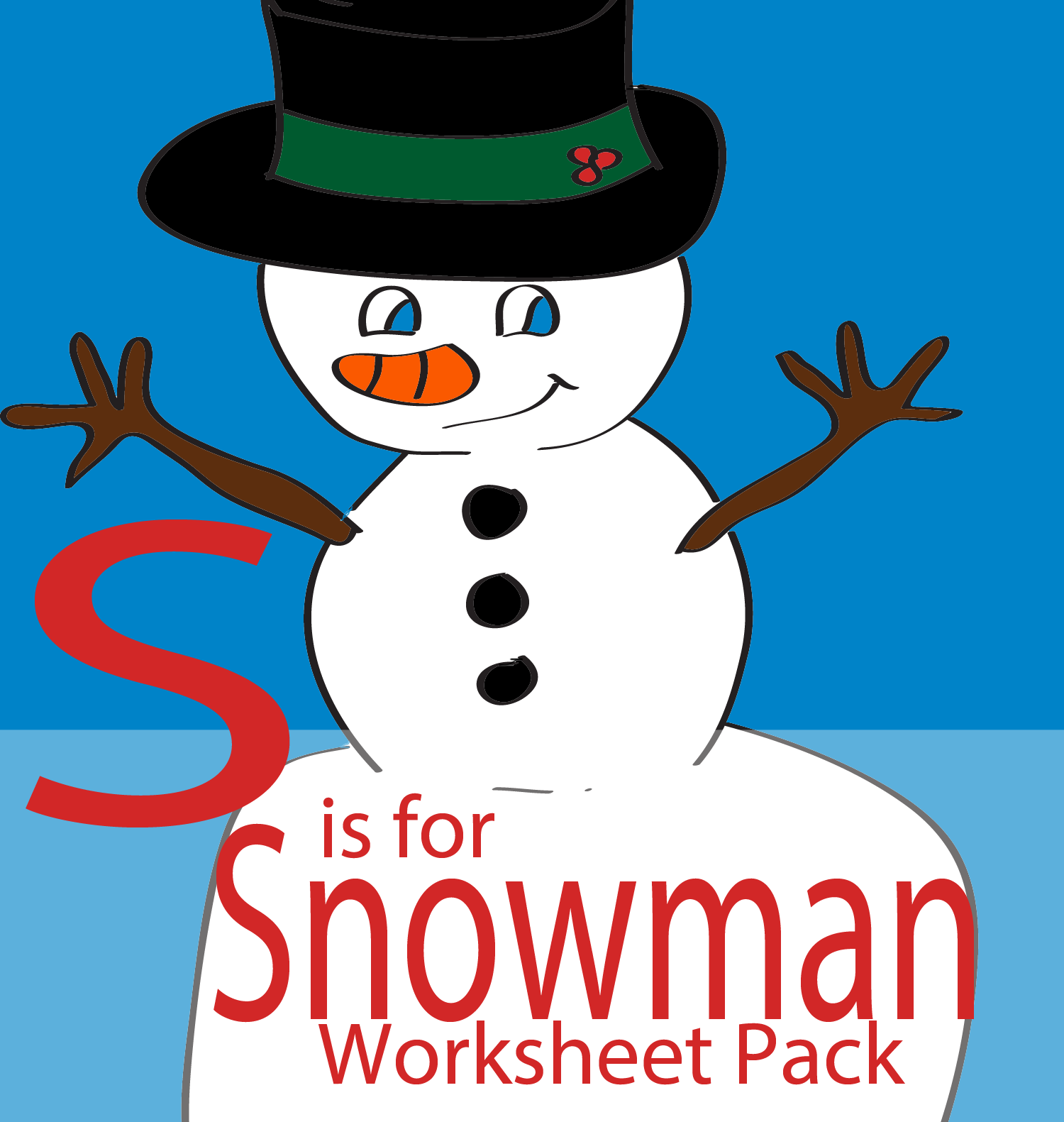 S Is For Snowman Free Printable Educational Preschool And