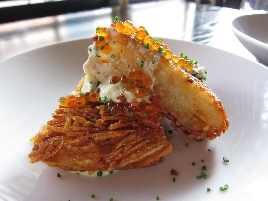 Crispy potato galette from craigie on main in cambridge