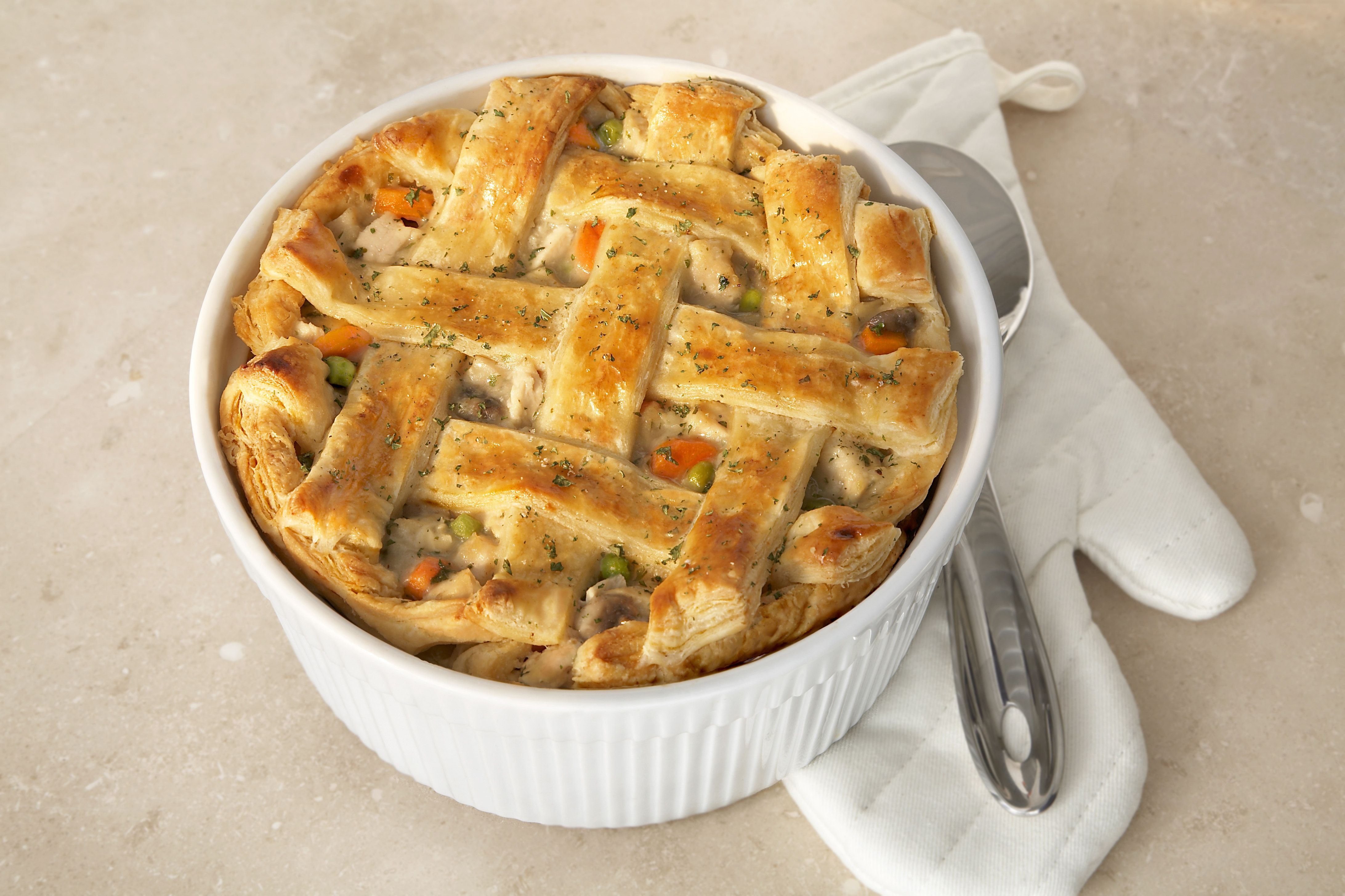 The Ultimate Chicken Pot Pie - Puff pastry was great for any insides.