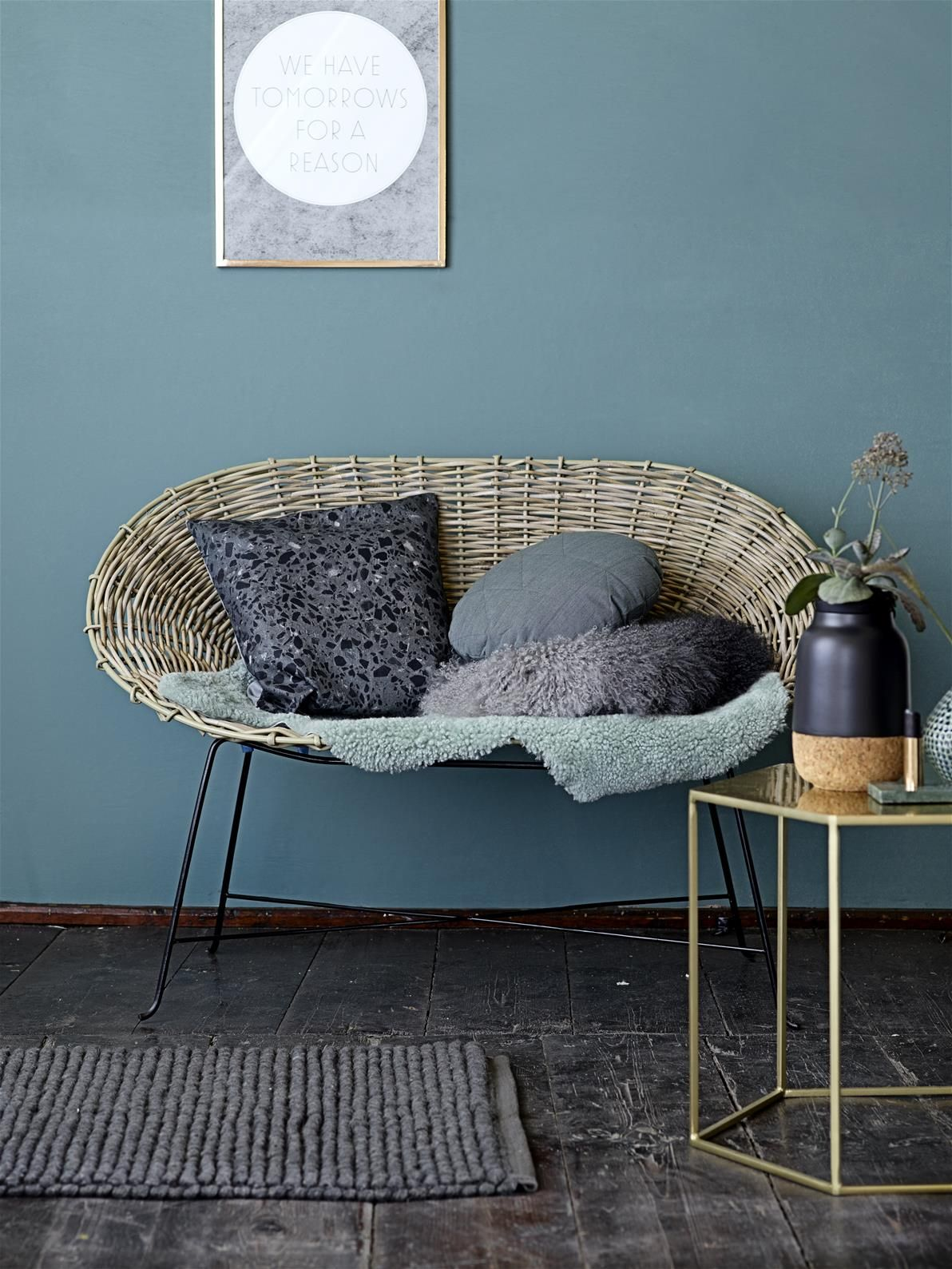 Innenarchitektur wohnzimmerfarbe trendfarbeherbstblaubloomingville  bloomingville  pinterest