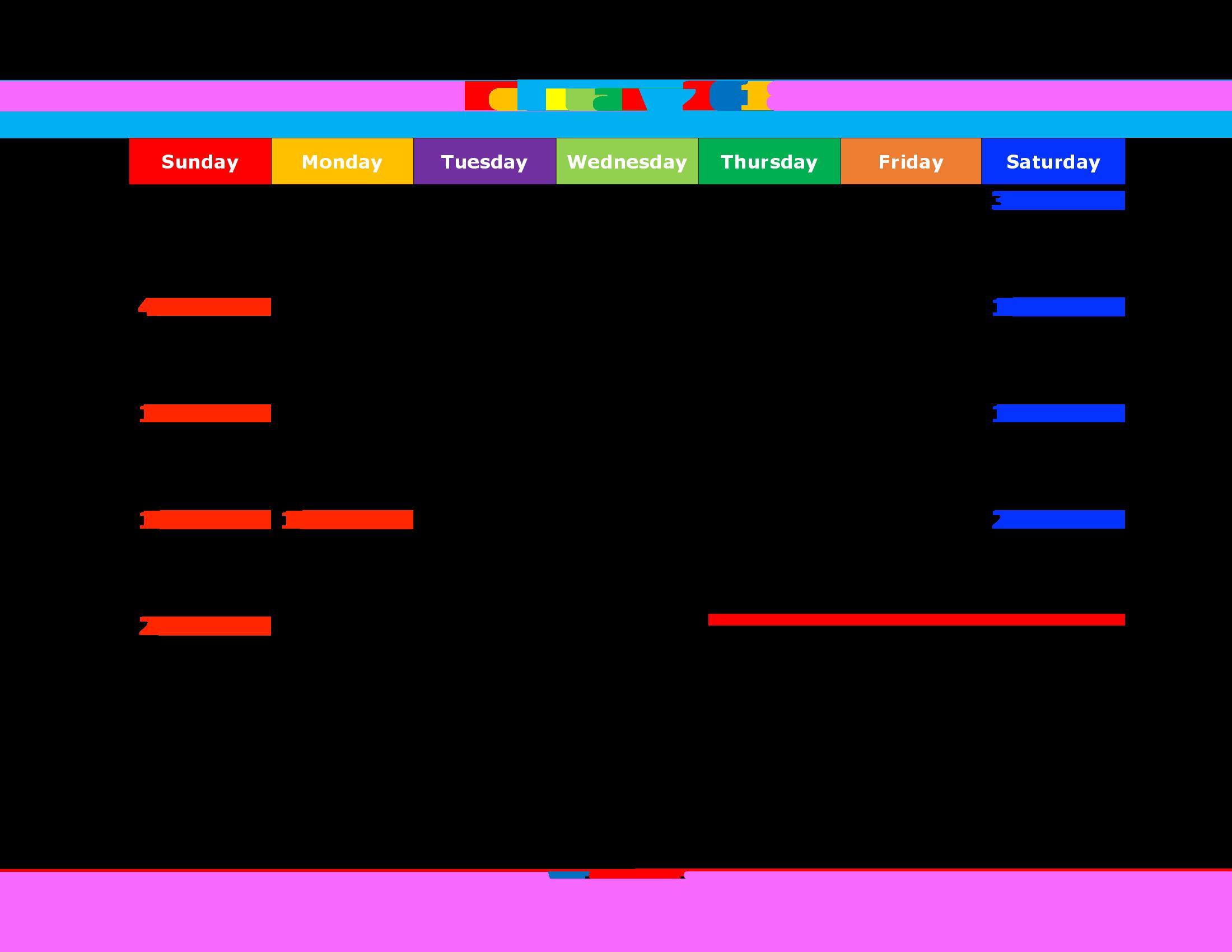 Cute February Calendar