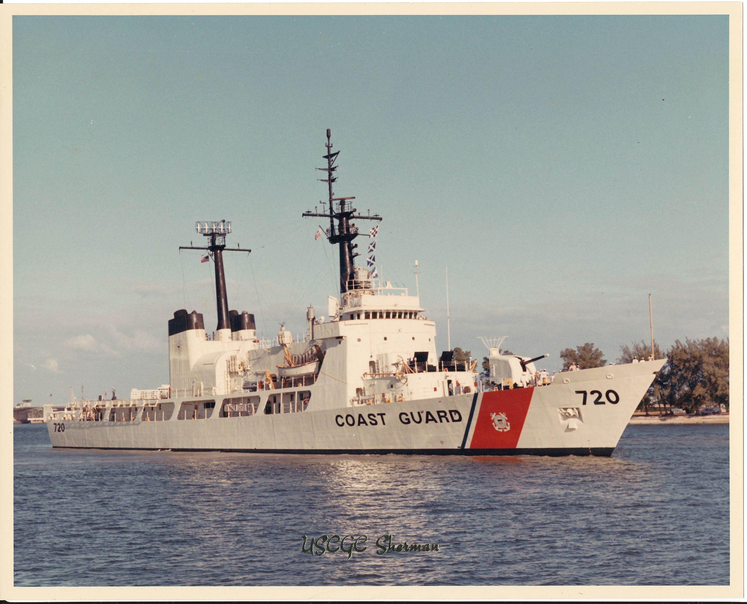 Official Photo of USCGC Sherman WHEC 720 the year she was commissioned in 1968