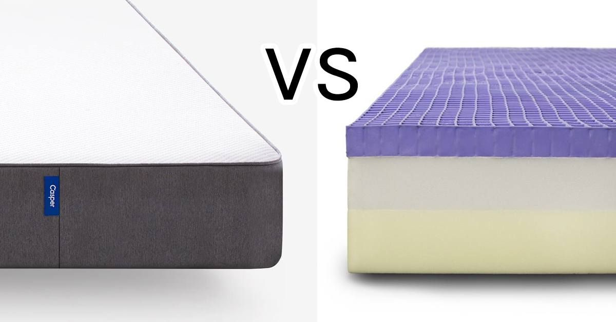 Casper Vs Purple Mattress Comparison Purple Bedding Casper Vs