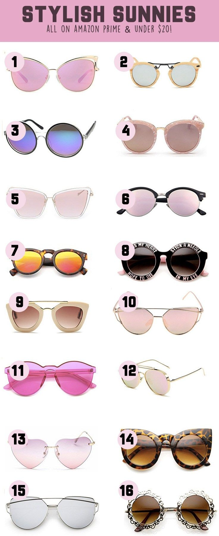 Amazon Prime Sunnies for Spring & Summer