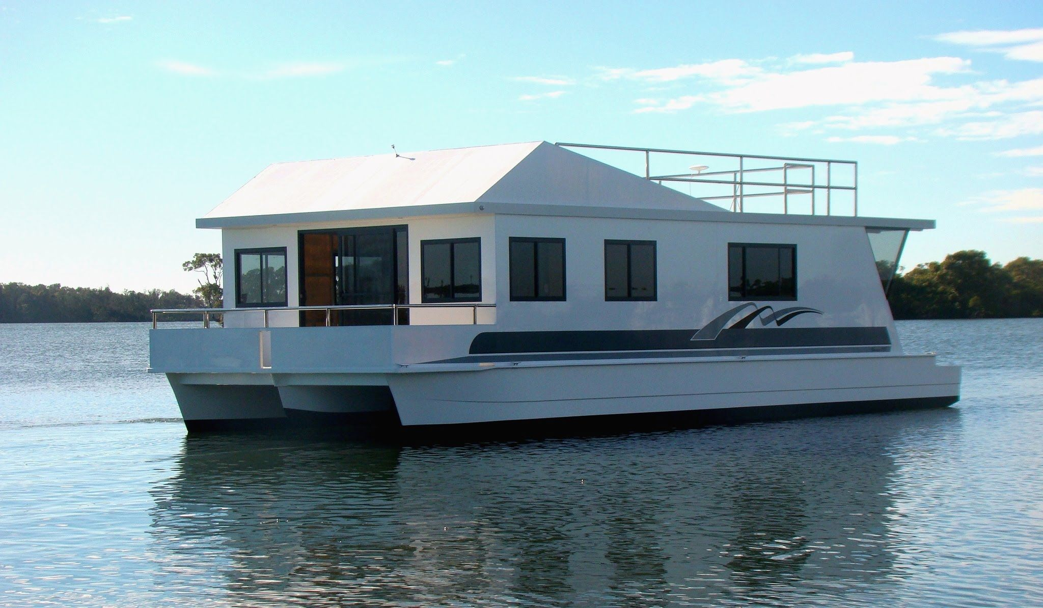 How To Build A Houseboat Hull Architecture Modern Idea