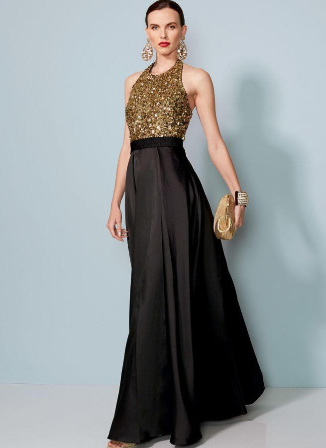 1534 VOGUE Designer Schnittmuster Abendkleid