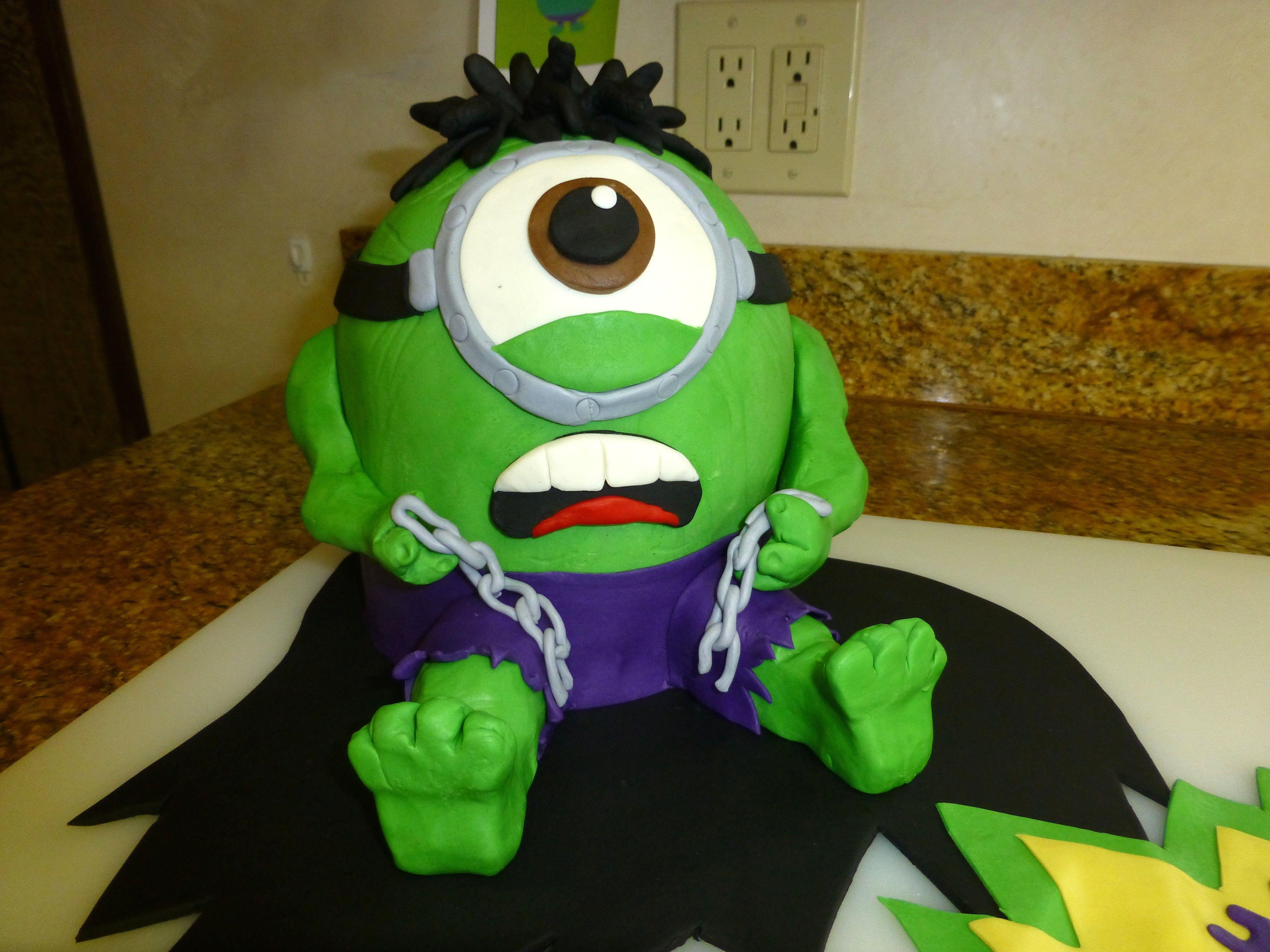 Hulk Minion PASTRY FUN Pinterest Minion cakes Cake and Cake