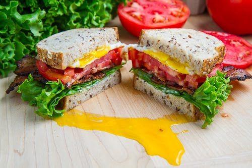 Belt Bacon Egg Lettuce Tomato Sandwich Recipe Sandwiches Bacon Egg Lettuce Tomato Sandwich Tomato Sandwich